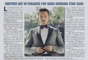 Sean Maguire profiled in Hello! magazine